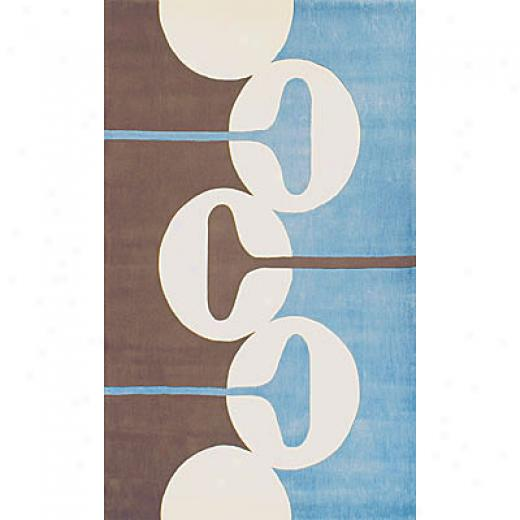 Foreign Accents Festival Dots 5 X 8 Blue Brown Area Rugs