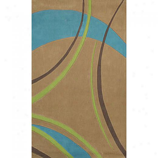 Foreign Accents Festival Waves 5 X 8 Tan Area Rugs