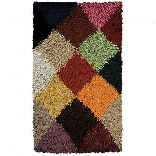 Foreign Accents Jubiliee Leather Shag 5 X 8 Jubilee Multi Colored Area Rugs