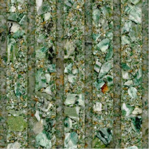 Fritztile Fluted 1/4 Wt6100 Canadian Green Granite Tile & Stone