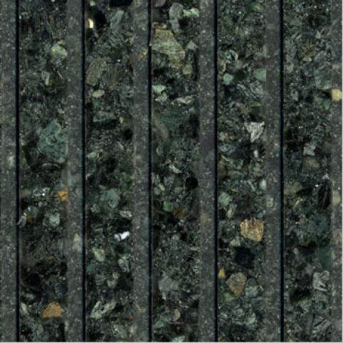 Fritztile Fluted 1/4 Wt6100 Leaf Green Marble Tile & Stone