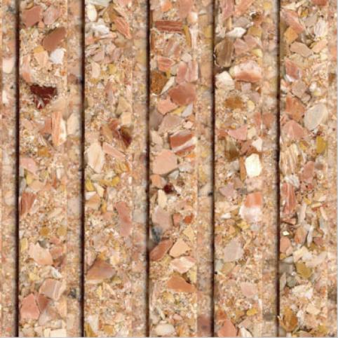 Fritztile Fluted 1/4 Wt6100 Cima Rosa Marble Tile & Stone