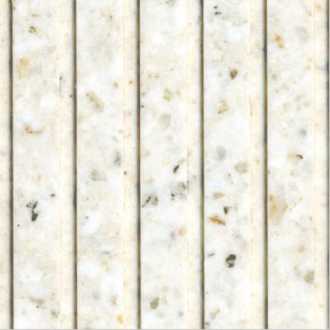 Fritztile Fluted 1/4 Wt6100 Twilihgt White Marble Tile & Stone