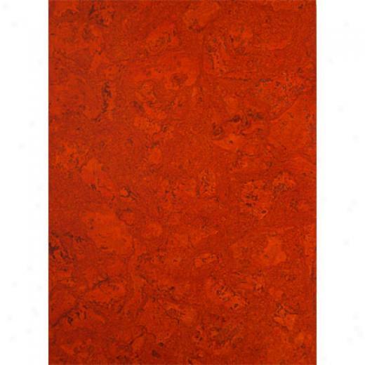 Globus Cork Glue Down Tiles 12 X 36 Burnt Oranbe Cork Flooring