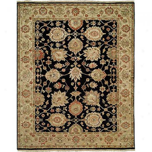 Harounian Rugs International Newburry 6 X 9 Black/ivory Area Rugs