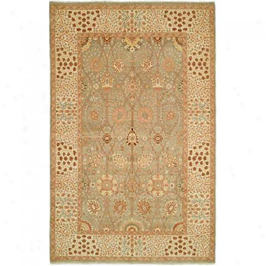 Harounian Rugs International Hadji Jalili 8 X 10 Green/ivory Area Rugs