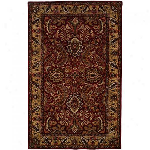 Harounian Rugs International Park Avenue 8 X 11 Red/bsige Area Rugs
