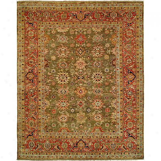 Harounian Rugs International Mahal 8 X 10 Green/red Area Rugs