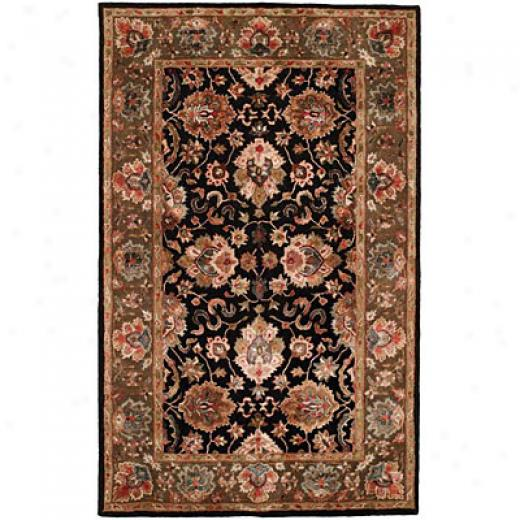 Harounian Rugs International Romance 8 X 11 Black Area Rugs