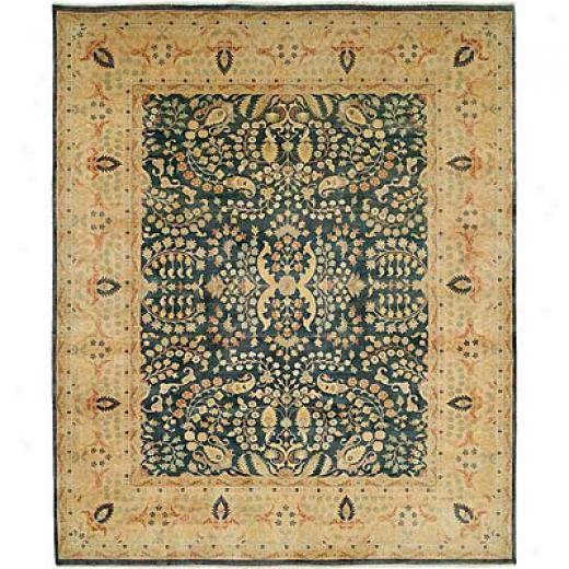 Harounian Ruts International Hadji Jalili 8 X 10 Blue/gold Area Rugs