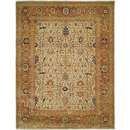 Harounian Rugs International Supreme 8 X 10 Ivory/rust Area Rugs
