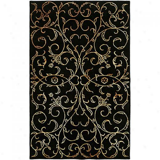 Harounian Rugs International Eden Park 8 X 11 Black Area Rugs