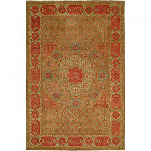 Harounian Rugs International Mamlouk 8 X 10 Green Yard Rugs