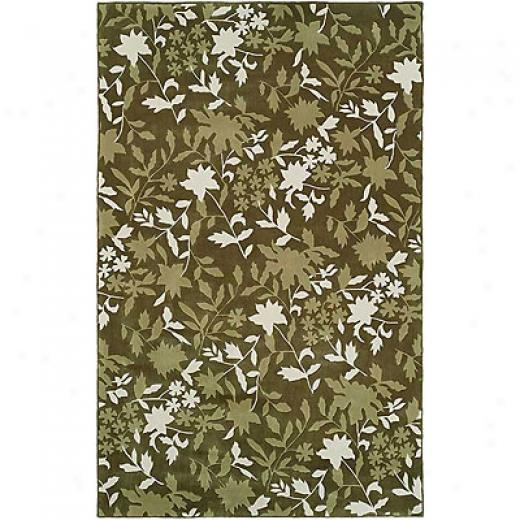 Harounian Rugs International Camelot Ii 8 X 11 Green Area Rugs