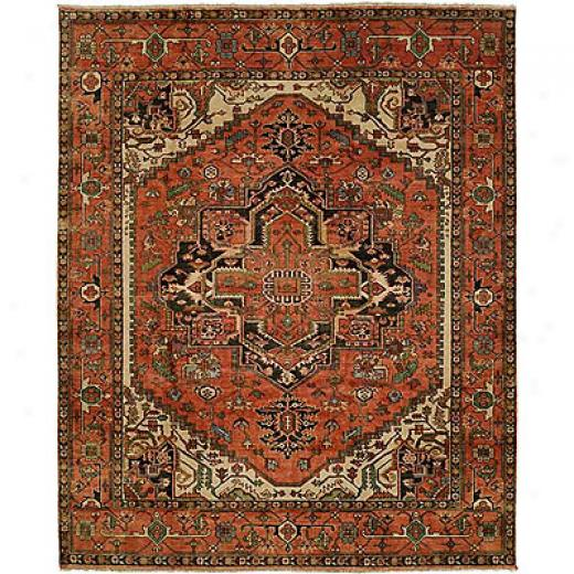 Harounian Rugs International Serapi Heritage 6 X 9 Rust/rust Area Rugs