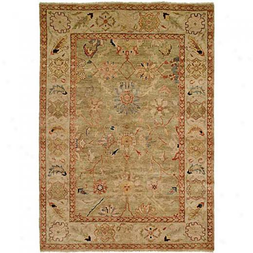 Harounian Rugs International Peshawar 8 X 10 Light Green/ivory Area Rugs