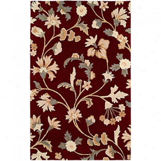 Harounian Rugs International Inspiration 8 X 11 Burgundy Area Rugs