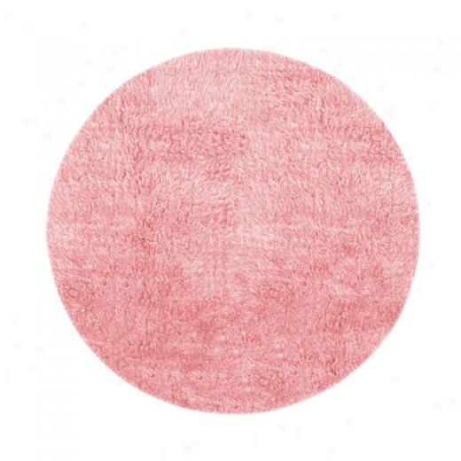 Hellenic Rug Imports, Inc. New Flokati 10 Round Pastel Pink Area Rugs