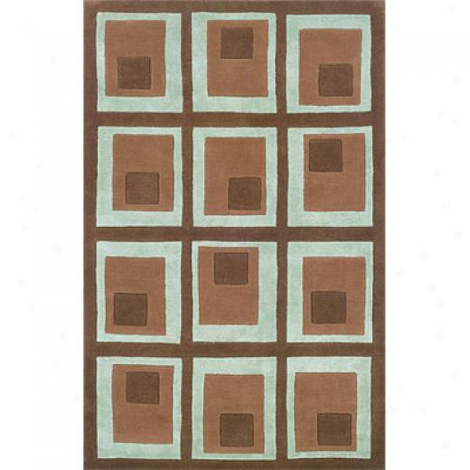 Hellenic Rug Imports, Inc. Retro Denim 5 X 8 Boxes Chocolate Area Rugs