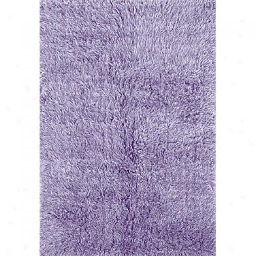 Hellenic Rug Imports, Inc. New Flokati 2 X 3 Pastel Violet Area Rugs