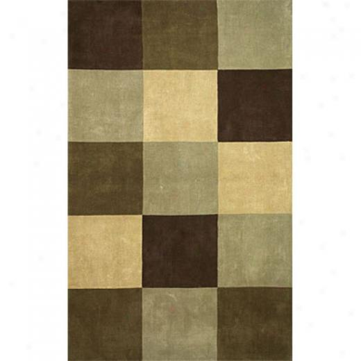 Hellenic Rug Imports, Inc. Torino 5 X 8 Squares Olive Area Rugs