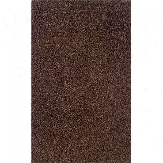 Hellenic Rug Imports, Inc. Confetti Shag 4 X 6 Fancy Yarn Brown Area Rugs