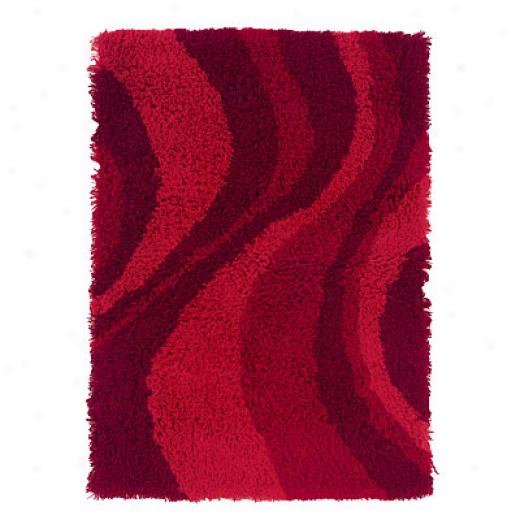 Hellenic Rug Imports, Inc. Ultimate Lava Shag 4 X 6 Red Aeea Rugs