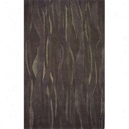 Hellenic Rug Imports, Inc. Kontempo 1 X 2 New Wave Charcoal AreaR ugs