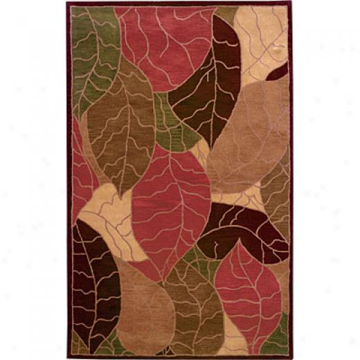 Hellenic Rug Imports, Inc. Rain Forest 1 X 2 Leaf Gold Area Rugs