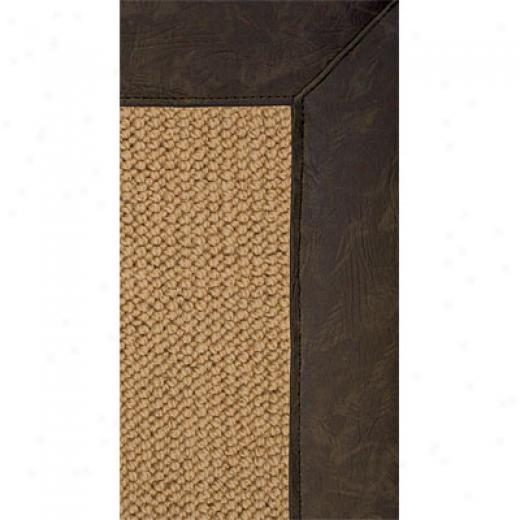 Hellenic Rug Imports, Inc. Athena Sisal 5 X 8 Sage Faux Leather Area Rugs