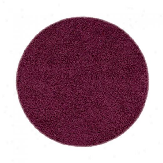 Hellenic Rug Imports, Inc. Ultimate Shag 5 X 7 Oval Burgundy Area Rugs