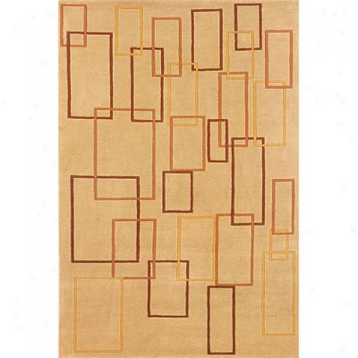 Hellenic Rug Imports, Inc. Napoli 1 X 2 Boxes Camel Area Rugs