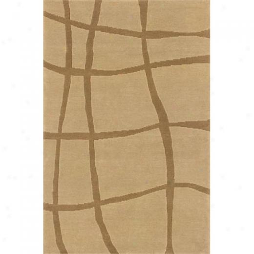 Hellenic Rug Imports, Inc. Napoli 1 X 2 Wavy Stripe Beige Area Rugs