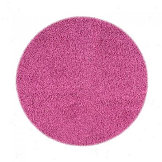 Hellenic Rug Imports, Inc. Ultimate Shag 5 X 7 Oval Fuschia Area Rugs