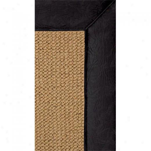 Hellenic Rug Imports, Inc. Athena Sisal 9 X 12 Black Faux Leather Area Rugs