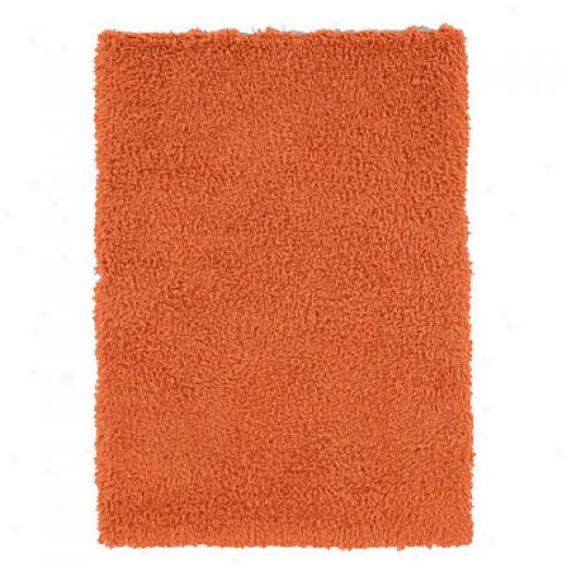 Hellenic Rug Impotts, Inc. Ultimate Shag 8 X 10 Orange Superficial contents Rugx