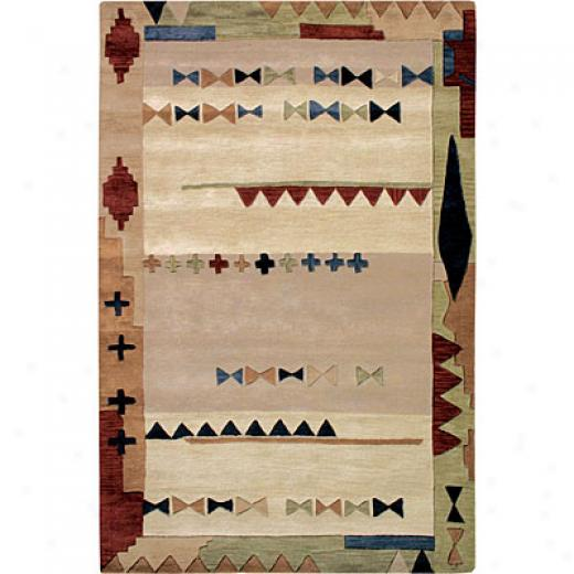 Hellenic Rug Imports, Inc. Spirit 4 X 6 Scotsdale Ivory Area Rugs