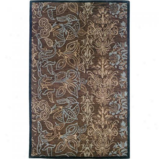 Hellenic Rug Imports, Inc. Palermo 5 X 8 Etchings Dark Brown Area Rugs