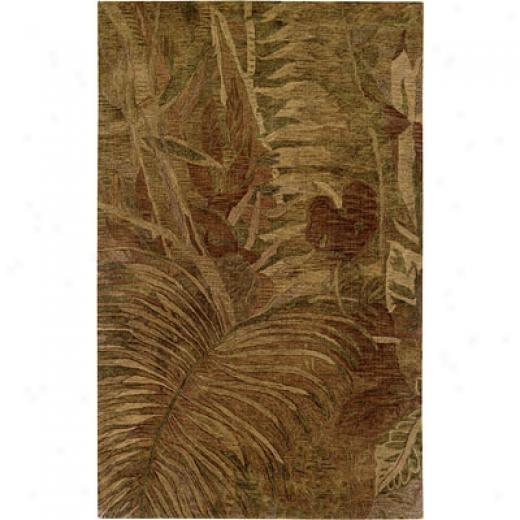 Hellenic uRg Imports, Inc. Rain Forest 4 X 6 Tropical Fern Honey Area Rugs