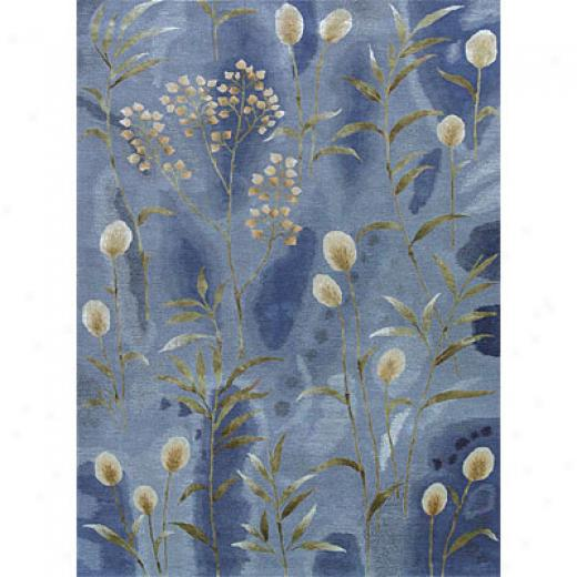 Hellenic Rug Imports, Inc. City Trends 5 X 8 Marsh Blue Area Rugs