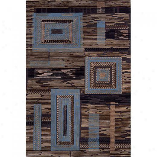 Grecian Rug Imports, Inc. Urban City 8 X 11 In Stitches Chocolate Area Rugs