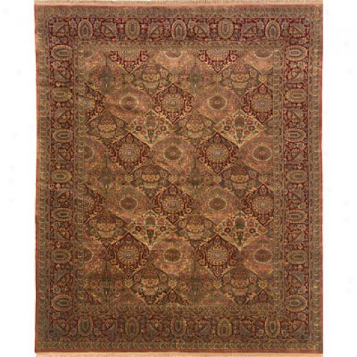 Grecian Rug Imports, Inc. Private Reserve 9 X 12 Panell Rust Area Rugs