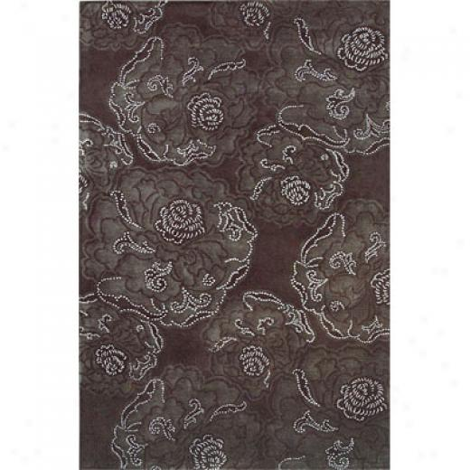 Hellebic Rug Imports, Inc. City Trends 5 X 8 Fog Charcoal Area Rugs