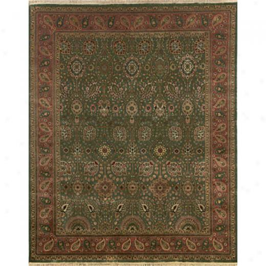 Hellenic Rug Imports, Inc. Priva5e Reserve 9 X 12 Tabriz Green Area Rugs