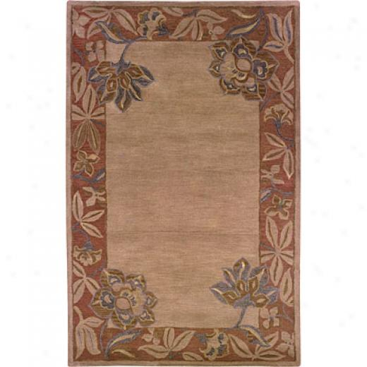 Hellenic Rug Imports, Inc. Palermo 5 X 8 Floral Border Terracotta Area Rugs