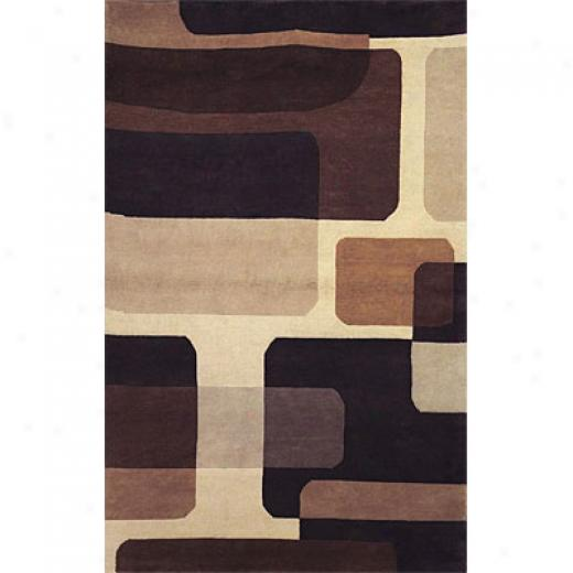 Hellenic Rug Imports, Inc. Napoli 1 X 2 Rounded Rectangles Cream Area Rugs