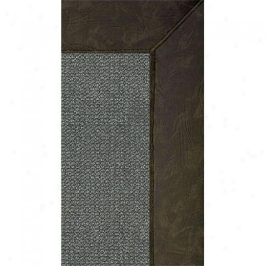 Grecian Rug Imports, Inc. Athena Charcoal 5 X 8 Sage Faux Leather Area Rugs