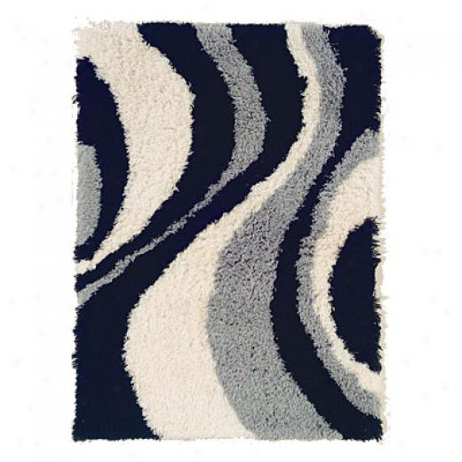 Hellenic Rug Imports, Inc. Ultimate Lava Shag 8 X 11 Black Area Rugs