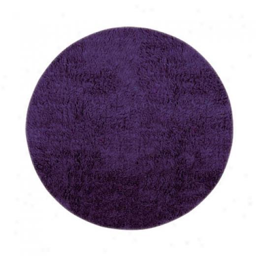 Hellenic Rug Imports, Inc. New Flokati 10 Round Vivid Purple Area Rugs