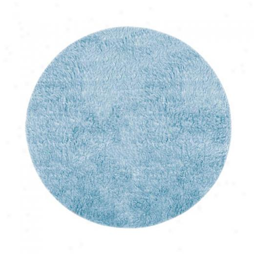 Grecian Rug Imports, Inc. New Flokati 8 Round Pastel Blue Area Rugs